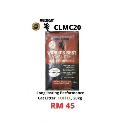 Cat Litter- MULTICAT- Lavender/ Coffee/ Lemon 20kg