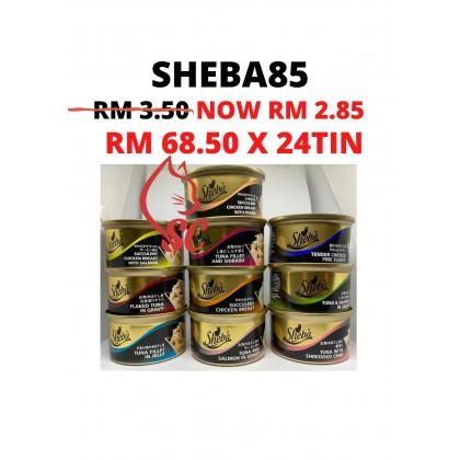 Cat Food- Sheba- Wet Food Tin (Carton) 85g x 24 Cheapest Offer Paling Murah